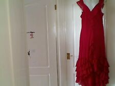MARKS AND SPENCER(PER UNA) RED LINED DRESS SIZE 16L NEW WITH TAGS