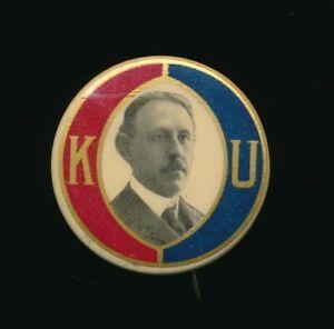 1910's Celluloid Pinback - University of Kansas - Chancellor
