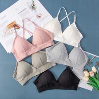 Women Sexy Seamless Gym Yoga Sports Bra Crop Top Vest Comfort Stretch Bralette