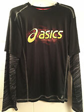 Asics COMBUSTIBLE Boys Youth Crew Neck Long Sleeve Polyester Top NEW