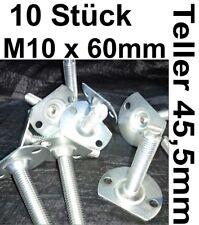 10x TELLERSCHRAUBE SPANNSCHRAUBE M10 KLEMMSCHRAUBE Fuß verstellbar Nivellierfuß