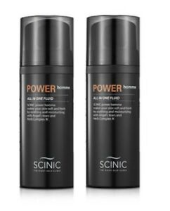 Scinic Power Homme 100ml 2pcs Skin Lotion Essence All in one Fluid Whitening