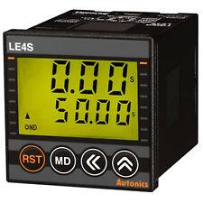 Autonics LE4S W48×H48mm Signal ON Start SPDT(1c) Digital Backlight LCD Timer