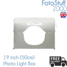 Professional Large 50CM K50 LED LUCE KIT STUDIO FOTOGRAFICO BOX CUBO Tenda UK STOCK