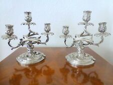 Antique Cardeilhac Silvered Bronze 19Th C. Candelabra Rare