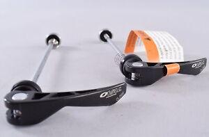 Oval Concepts Steel Quick Release Skewer Set Front Rear Road Mountain Bike Black