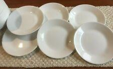 Corelle 17cm Vitrelle Glass Winter Frost White Bread/ Butter Plate, Pack of 6