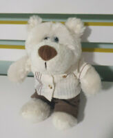 TEDDY HOUSE BOY TEDDY IN TROUSERS SHIRT SOFT PLUSH TEDDY BEAR APPROX 24CM TALL