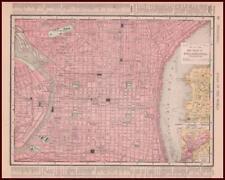 PHILADELPHIA, PENNSYLVANIA, CITY MAP, ORIGINAL, 1901