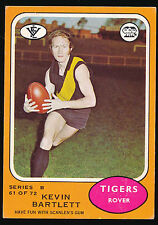 1973 B Scanlens No. 61 Kevin Bartlett Richmond Tigers Football Card