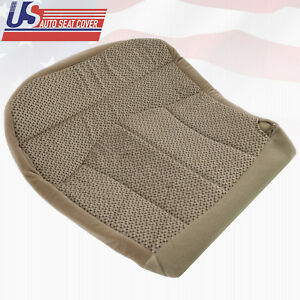 1999 & 2000 FORD F150 XLT DRIVER BOTTOM CLOTH SEAT COVER REPLACEMENT MEDIUM TAN