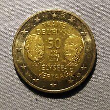 Pièce 2 euro commémorative 50 ans traité de l'Elisée 2013