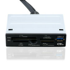 "USB 3.0 Cardreader 3,5"" 8,89cm Kartenleser schwarz USB Port FrontPanel intern"
