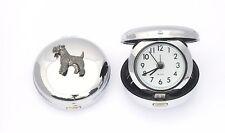 Fox Terrier Design Portable Quartz Movement Alarm Clock Dog Lover GIft