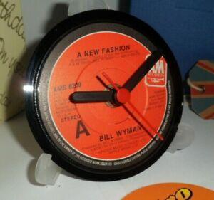*new* BILL WYMAN (ROLLING STONES) vinyl record CLOCK   Actual original records