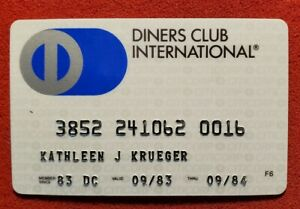 CITICORP Diners Club exp 1984♡Free Shipping♡ cc726