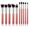 10Pcs Professional Kabuki Foundation Brushes Makeup Brush Set Cosmetic Tool Kit