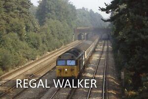 "ORIGINAL 35MM SLIDE BRITISH RAIL BR CLASS 50 - 50041 ""BULWARK"" FRIMLEY SURREY 82"