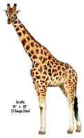Giraffe Animal Wall Art Laser Cut Out Metal Sign 18x30