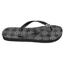 25e2e64354127 NEW Tory Burch T- Logo Flip Flops in Black Size 7
