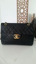 Chanel Maxi Jumbo Leather Vintage rare Bag, Sac Borsa Maxi jumbo Vintage