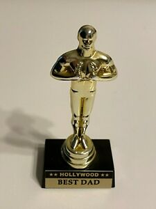 "Hollywood Oscar Award Trophy Souvenir 4-Inch - ""Best Dad"" Statue - Pre OWned"