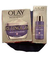 Olay Regenerist Retinol 24 Night Moisturizer Frag Free 1.7  oz Bonus NIGHT SERUM