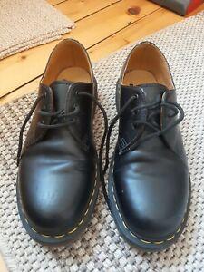 Dr. Martens 3-Loch Halbschuh Leder schwarz 11838002 Black Smooth 1461 3-Eye Docs