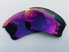 ENGRAVED POLARISED + RED MIRRORED REPLACEMENT OAKLEY HALF JACKET XLJ LENSES