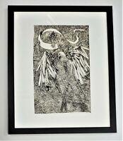 LEONARD BASKIN MOBY DICK SUITE Original Color Lithograph Albatross PENCIL SIGNED