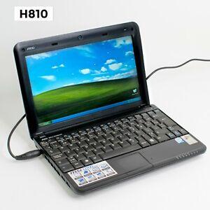 """MSI U100 10.0"""" LAPTOP INTEL ATOM N270 1.60GHZ 2GB-RAM 160GB-HDD WINDOWS XP H810"""