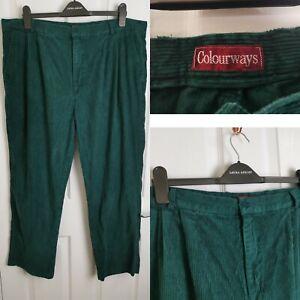 Men's Vintage Colourworks Green Corduroy Trousers 41 Inch Waist