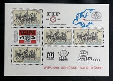 TIMBRES DE TCHECOSLOVAQUIE : 1981 YVERT BLOC FEUILLET N° 50** NEUF WIPA 81 - TBE