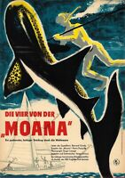 """Original DDR Progress Filmplakat in A4 Format 1959 Die vier von der """"Moana"""""""