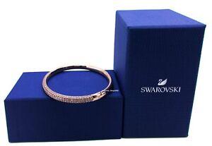 NEW Authentic SWAROVSKI Sparkle Crystal Pave Hinged Stone Bangle Bracelet