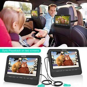 WONNIE 7.5 Dual Screen DVD Player Portable Car Headrest Video