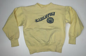 Vintage 50s Champion Running Man Carleton College Crewneck Sweatshirt Size M/L