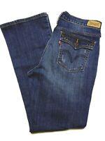 Levis 515 Women Boot Cut Stretch Denim Medium Wash Blue Jeans Size 8 S/C 30 x 28