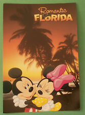 Mickey & Minnie Hugging in the Sunset in Romantic Florida Unused Disney Postcard