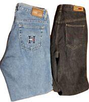 Lot Of 2 Tommy Hilfiger Flag Pocket Denim Jeans Women's Size 12 (31x30 & 31x31)