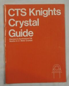 CTS Knights Crystal Guide Information Guide Manual Instructions Vintage cb 1975