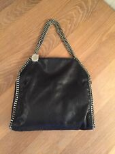 Stella McCartney Black Falabella Shaggy Deer Small Tote, AUTHENTIC DESIGNER. 7620576ab0