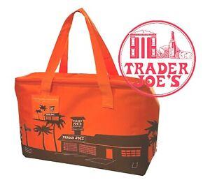 NEW 🔥 Trader Joe's  Insulated Reusable Shopping Bag 8 Gallons Orange 🔥 joes