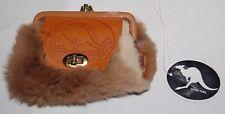 Vintage Genuine Kangaroo Fur Coin Purse Australia Souvenir Bag Diann Leather