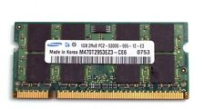Samsung 1GB DDR2 667MHz 2Rx8 PC2 5300S SODIMM Laptop Memory RAM Stick