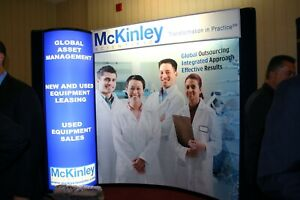 Trade Show Booth, Exhibit, Skyline Ptbl Displays, 10 ft by 8 ft, w/ Travel Cases