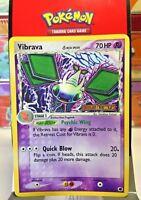 "Vibrava 24/101 ""Stamped"" ( Ex Dragon Frontiers ) Holo Pokemon Card EX/VG"