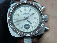 mechanischer Ruhla Chronograph, vintage Ruhla Chronograf DDR