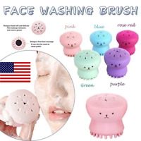 Cute Octopus Face Cleaner Massage Silicone Facial Cleansing Tool ORIGINAL USA