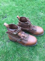 Vintage Leather Fishing Brogues Boots Unused Hardy Farlow's